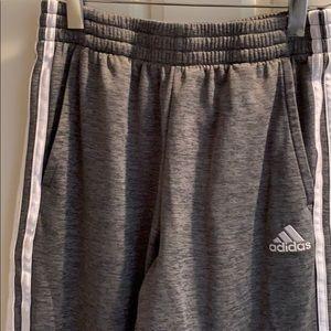 Boys adidas large 14/16 track pants gray